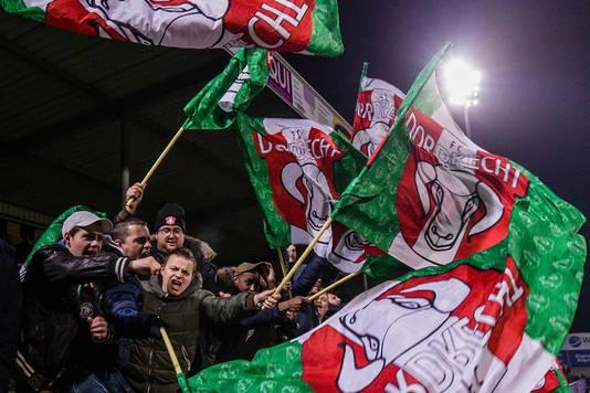 Supporters van FC Dordrecht.