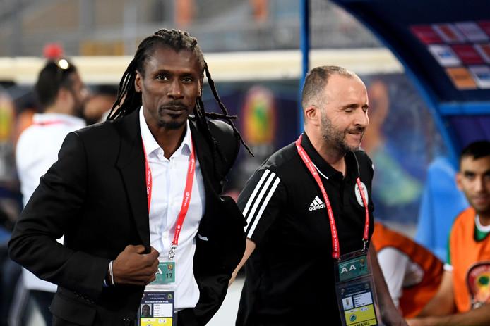 Aliou Cissé en Djamel Belmadi.