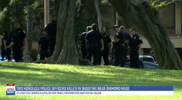 De schutter zou zijn huisbaas hebben neergestoken. Toen agenten ter plaatse kwamen, opende hij het vuur.