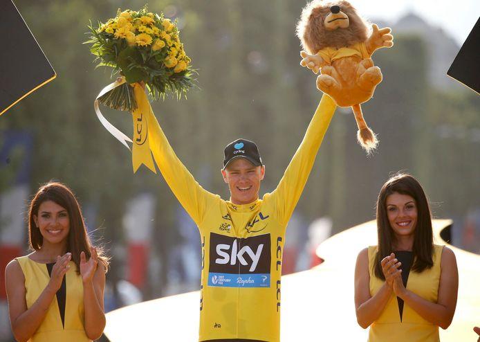 Chris Froome stak in 2016 voor de derde keer de Ronde van Frankrijk op zak.