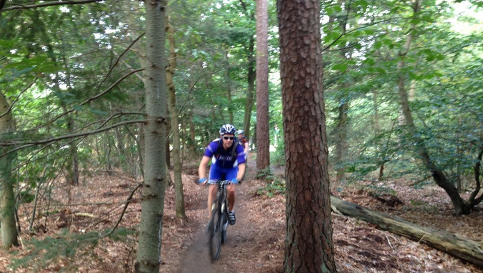 Met de opbrengst van het mountainbike-vignet worden de routes op de Heuvelrug onderhouden.
