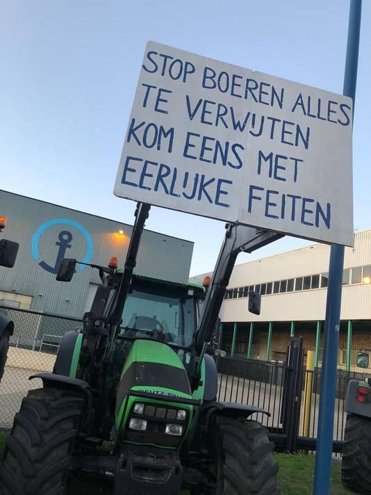 Protesterende boeren in Veghel.