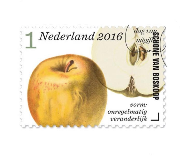Eén van de postzegels.