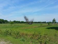 Granaat uit Tweede Wereldoorlog tot ontploffing gebracht in Liessel