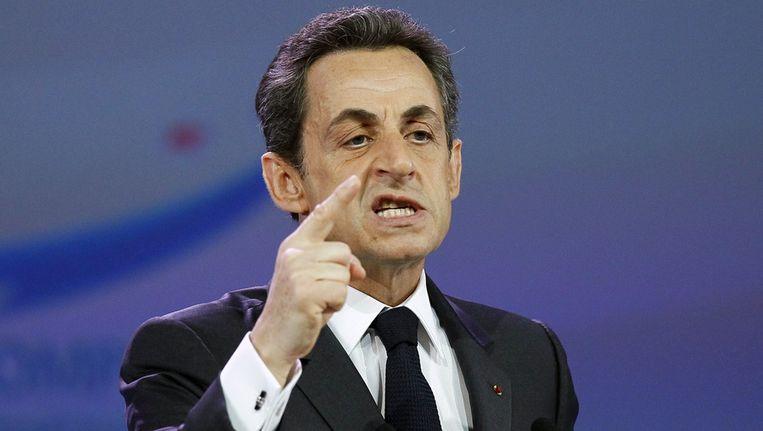 President Sarkozy. Beeld null