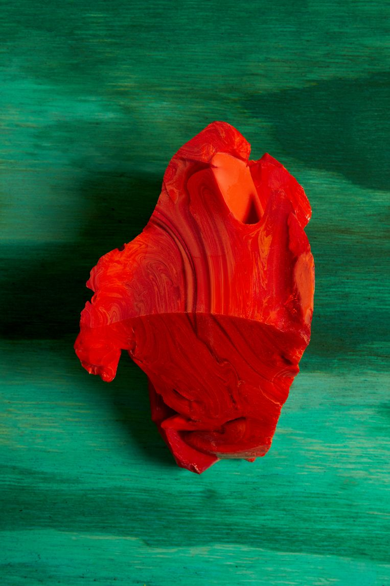 Red Cotisso, Green Pigment, Wood in Arìn.  Beeld Lorenzo Vitturi