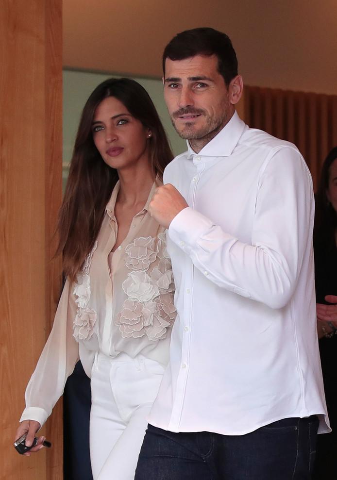 Iker Casillas en zijn vrouw Sara Carbonero