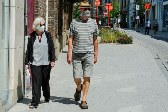 Wie in het stadscentrum van Vilvoorde wandelt of fietst, moet een mondmasker dragen.