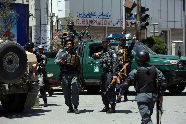 Afghaanse politieagenten (archiefbeeld)