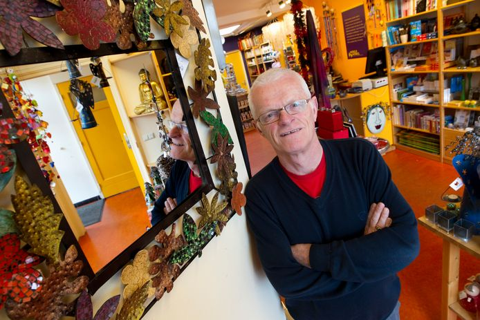 Voorzitter Gerrit Mol van de Wereldwinkel.