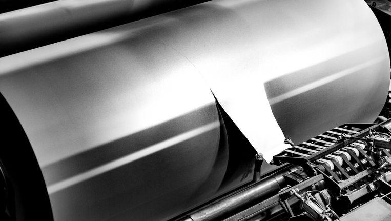Papierfabriek Crown Van Gelder. 'Man versus machine, dat vind ik indrukwekkend.' Beeld Bart Vos