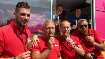 Joe FM trakteert Hubo-medewerkers op ijsjes