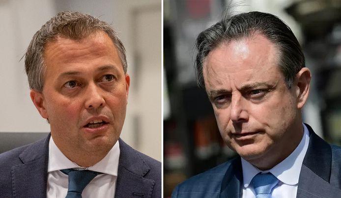 Open Vld-voorzitter Egbert Lachaert en zijn N-VA-collega Bart De Wever.