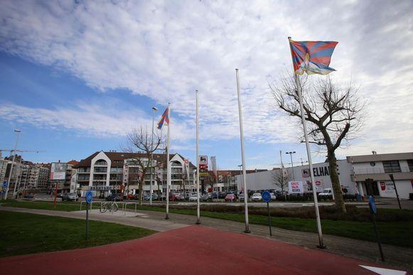Gisteren zag je heel wat Tibetaanse vlaggen in het straatbeeld.