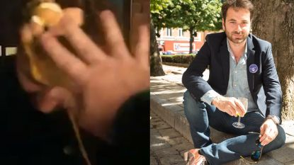 VIDEO. Tim Verheyden, maker van 'Schild en Vrienden'-reportage, bekogeld met ei door NSV-student