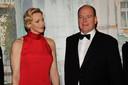 Le prince Albert II de Monaco et la princesse Charlene. Soirée de Gala du 77ème Grand Prix de Formule 1 à Monaco le 26 mai 2019