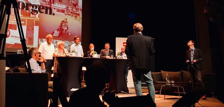 De lijsttrekkers van Gent in debat.