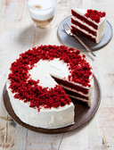 De Red Velvet taart van Rutger Bakt.