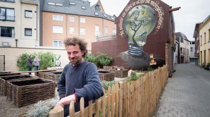 Muurschildering siert buurttuin Heihoek
