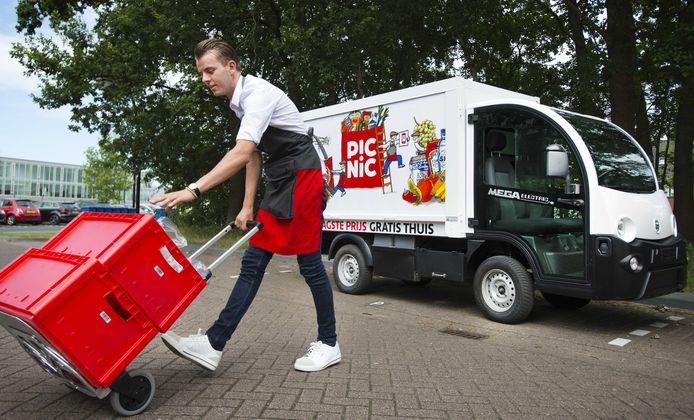 Van de aanbieders van boodschappendiensten krijgt Picnic de hoogste waardering.