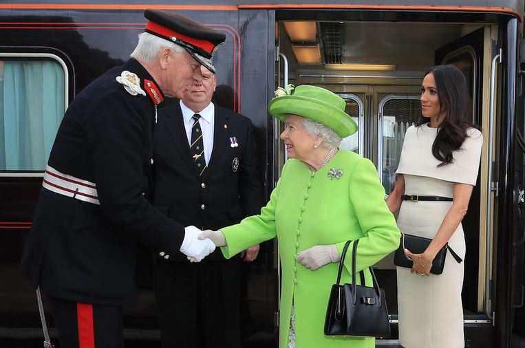 The Queen en Meghan. Beeld AFP