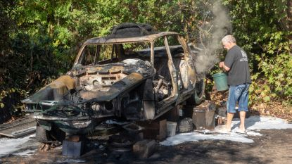 Oldtimer brandt uit op binnenkoer in Laarne