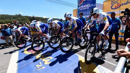 Deceuninck - Quick-Step grijpt naast zege in ploegentijdrit Colombia