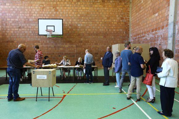 De stembus in het Sint-Lambertuscollege.