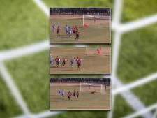 Keeper en speler stoppen drie penalty's op rij