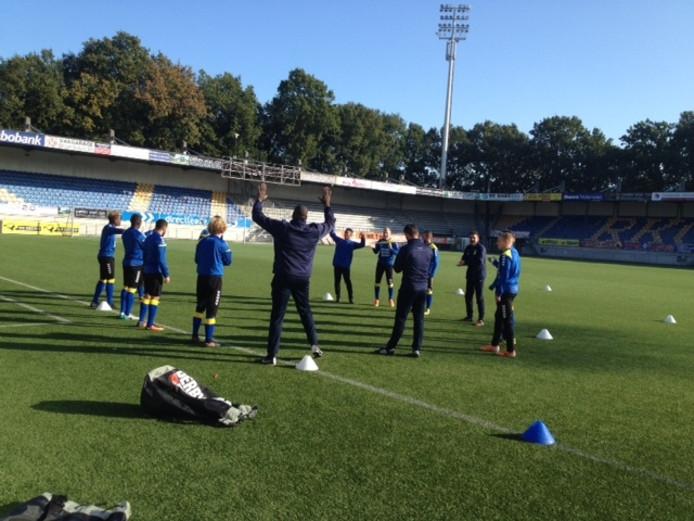 Een ronde van RKC Waalwijk tijdens de laatste training voor de wedstrijd tegen FC Oss.