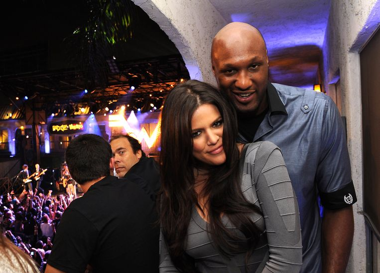 Lamar Odom toen hij nog samen was met Khloé Kardashian.
