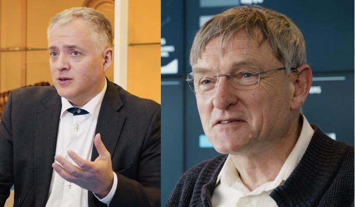 Vadim Banin (l) en Erik Loopstra.