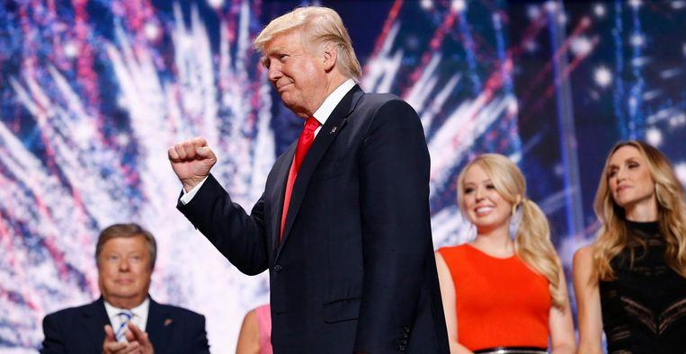 Donald Trump op de Republikeinse Conventie Beeld epa