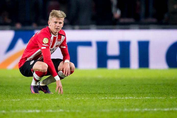 Oleksandr Zinchenko is dit seizoen niet doorgebroken in PSV 1.