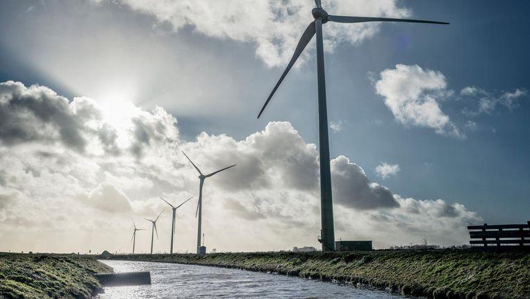 Dit kwam er wel: een nieuw windpark aan de Westfrisiaweg tussen Hoorn en Enkhuizen, met vijf molens van 85 meter hoog. Beeld Martin Dijkstra