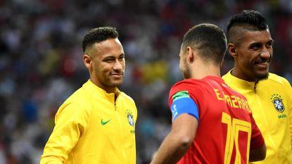 """Neymar werpt bloemetjes richting Hazard: """"Ik zou graag met hem spelen"""""""