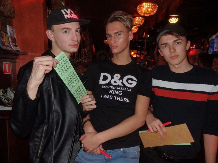 David Hombury (Annie Alcohol), socialité Stan van Meel en Victor Poelakker, student psychologie. Beeld Schuim