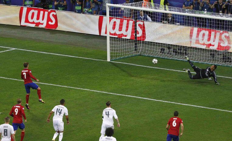 Geen gelijkmaker snel na de pauze voor Atlético. Een cruciaal moment in de finale.