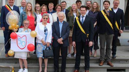 Gewezen voorzitter Okra Sleidinge viert gouden huwelijksverjaardag