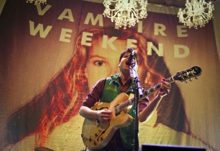 null Beeld Zanger Ezra Koenig van de Amerikaanse band Vampire Weekend. ANP Kippa
