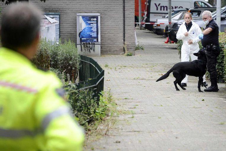 Politieonderzoek na de schietpartij in de Conradstraat Beeld ANP