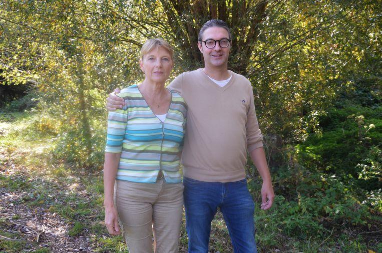 Pieter De Spiegeleer en zijn moeder Herlinde.