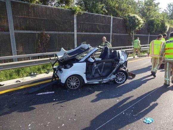 Deze Smart was betrokken bij het ongeval