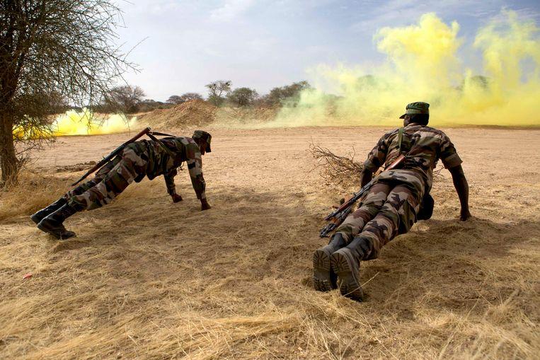 Soldaten in Niger trainen voor het grote werk.