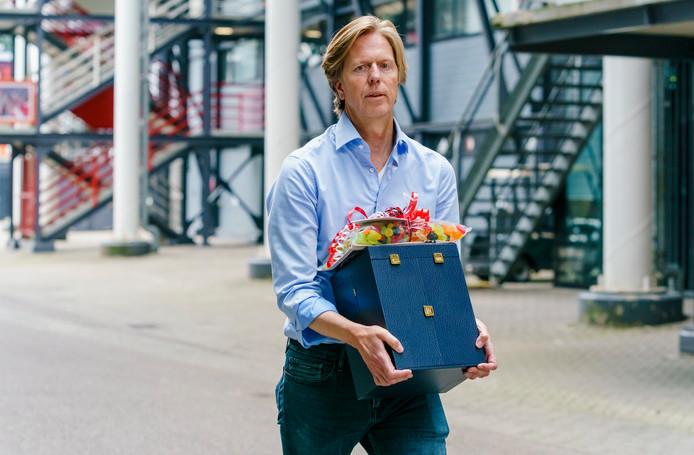 Jan de Jong vertrok gisteren uit de Kuip.