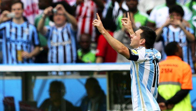 De Argentijn Lionel Messi had met vier doelpunten uit de eerste drie wedstrijden een fantastische WK-start. Beeld epa