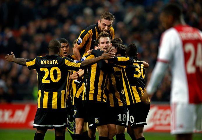 Vitesse won in december 2014 met 0-4 van Ajax in de achtste finales van de KNVB-beker.
