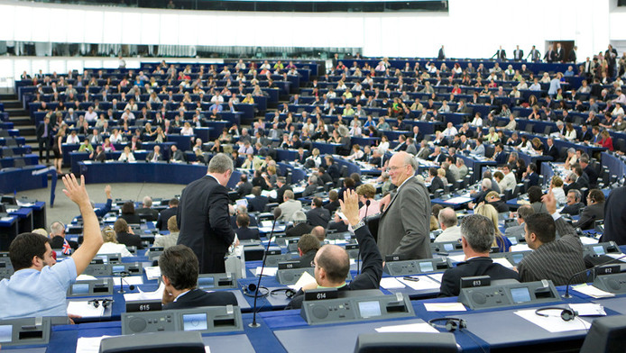 STRAATSBURG - Het Louise Weissgebouw is de zetel van het Europees Parlement in Straatsburg. De maandelijkse plenaire zittingen worden in dit gebouw gehouden.