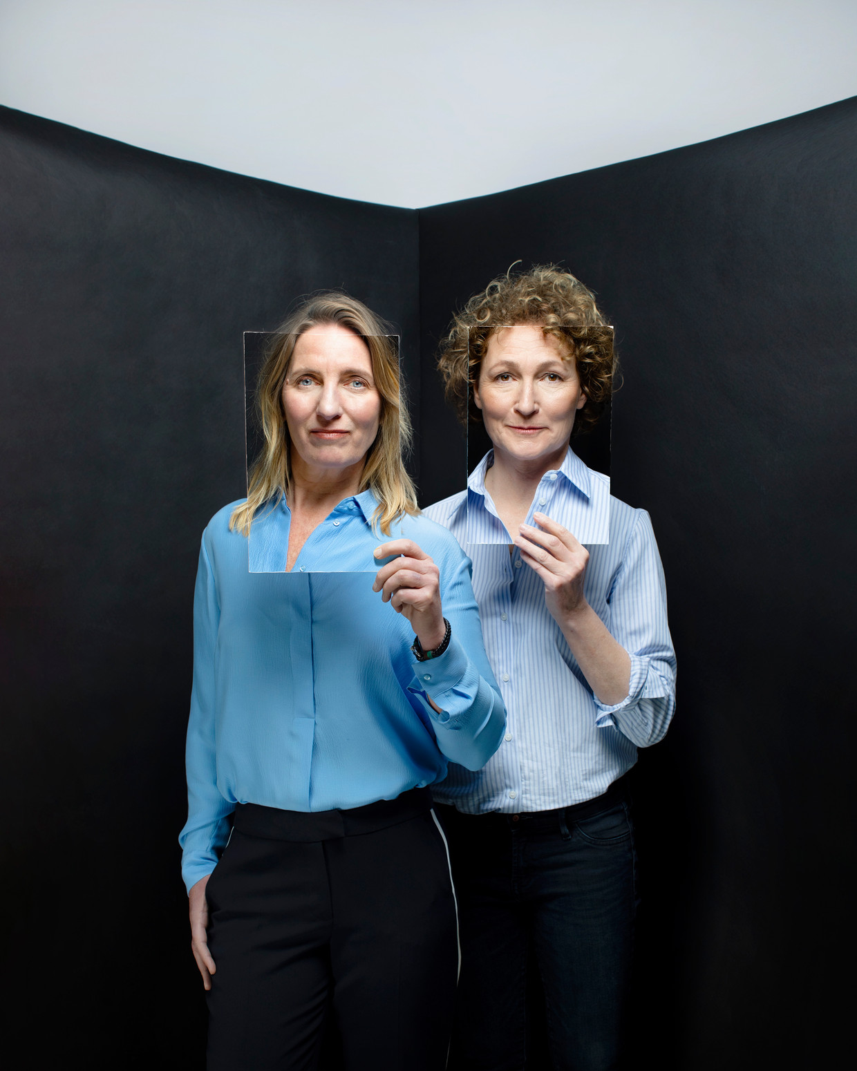 Dominique van der Heijden en Annet de Jong. Beeld Malou van Breevoort