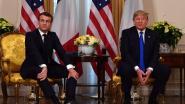 """Trump en Macron in de clinch tijdens persconferentie: """"Wil je een paar aardige IS-strijders? Ik zou ze je kunnen geven"""""""